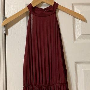 ASOS long burgundy evening gown